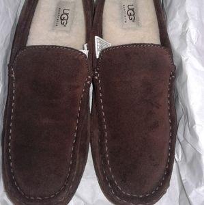 Mens UGG AUSTRALIA Brown Sheepskin Loafers slipper